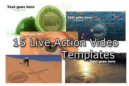 live action intro video templates